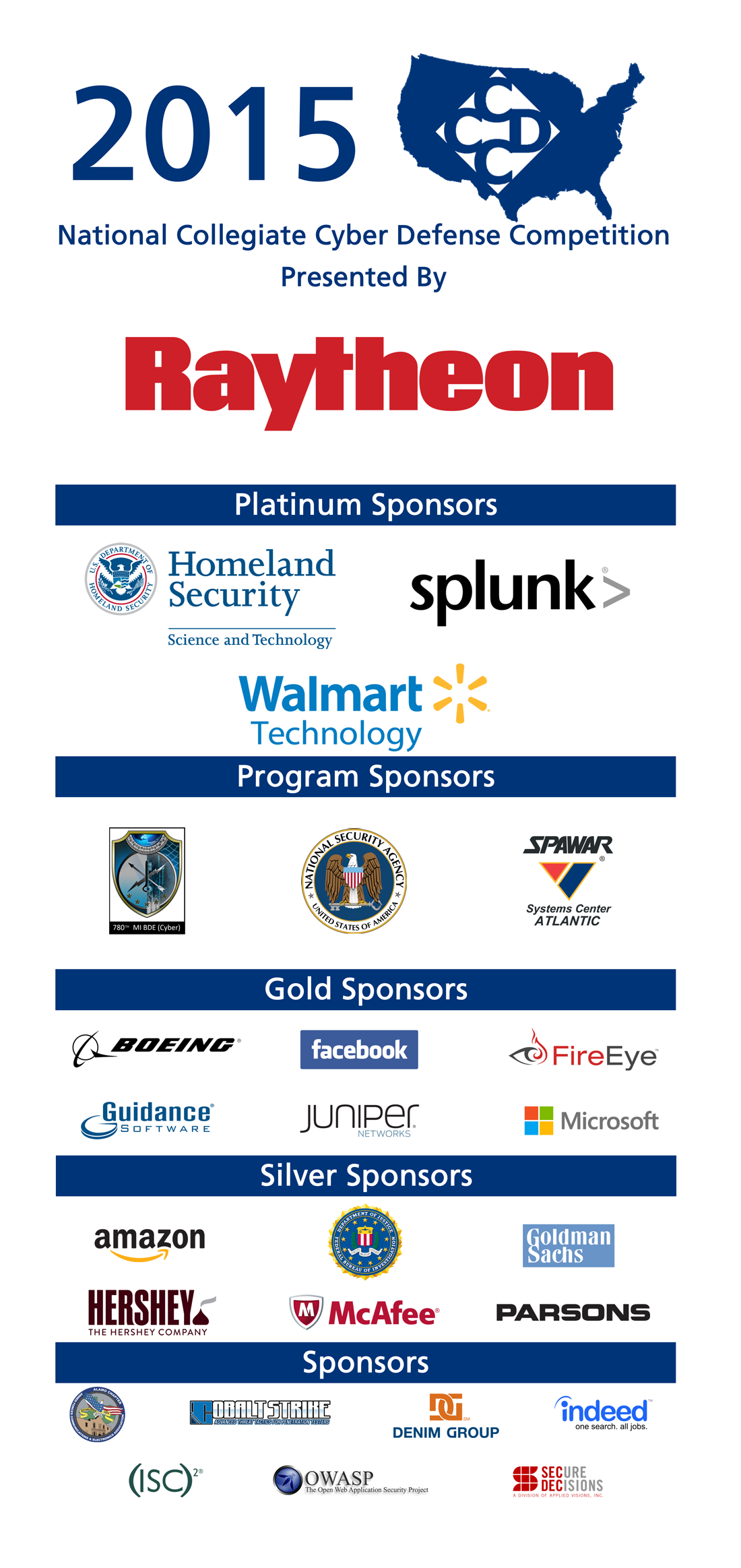 2015 National NCCDC Sponsors